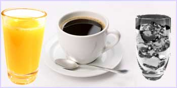 OJ Coffee Ice Water