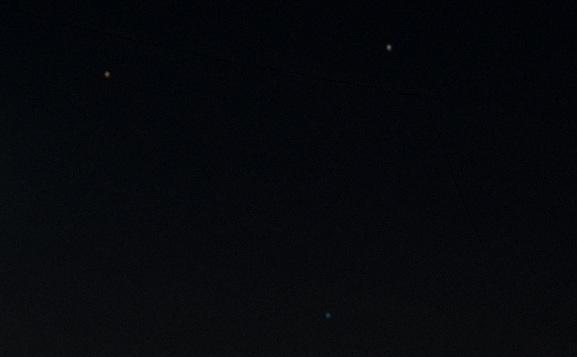 Spica, Saturn, Mars